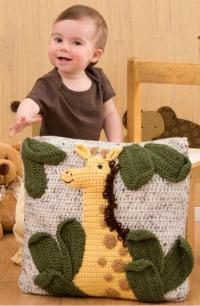 Giraffe Pillow | AllFreeCrochet.com