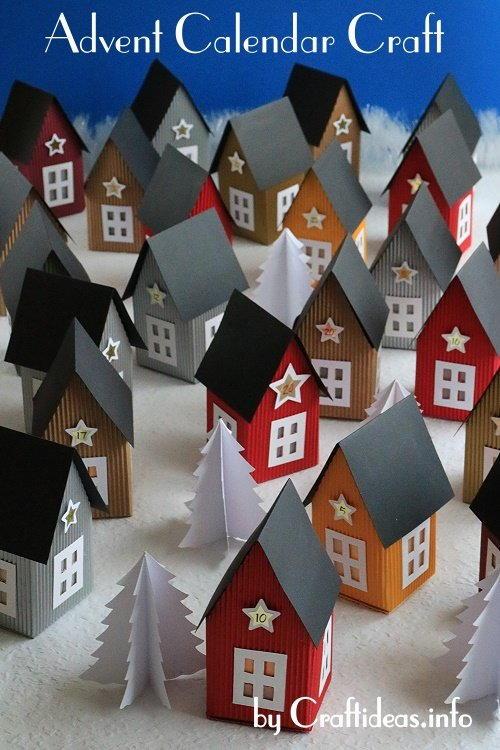 Scandinavian Inspired Paper Village Advent Calendar