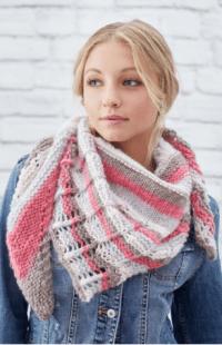 Stylish Lacy Stripes Knit Shawl | AllFreeKnitting.com