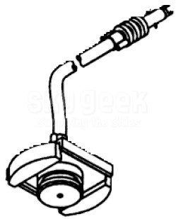 PPG Semco 310100 1cc Syringe Adapter Head with Hose