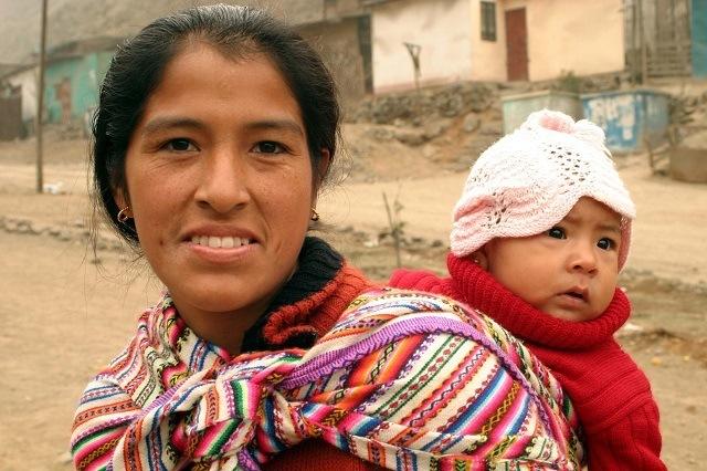 femme et enfant au Pérou