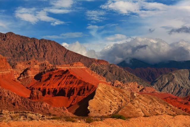 Les roches rouges de Cafayate à proximité de Salta, Argentine