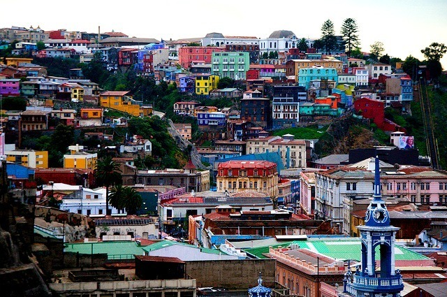 Vue sur Valparaiso