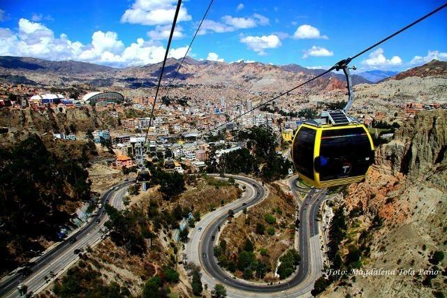 Vue sur La Paz depuis le téléphérique © Magdalena Tola Paño