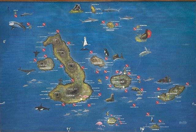 Carte Archipel Galapagos Crédit photo à : A.Davey httpswww.flickr.comphotosadavey