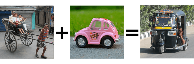 Rickshaw + voiture = Tuk-Tuk