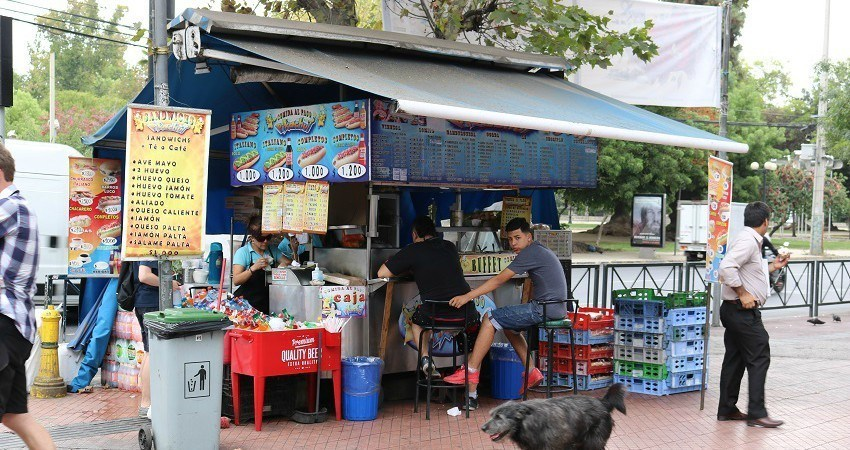 Stand de street food dans le quartier de Bellavista
