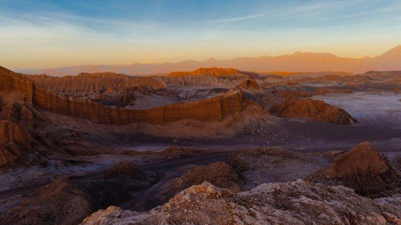 paysage du désert d'Atacama au Chili