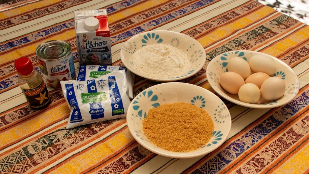 Ingrédient recette Torta Tres Leches