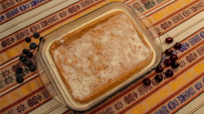 Gâteau issu de la recette Torta Tres Leches
