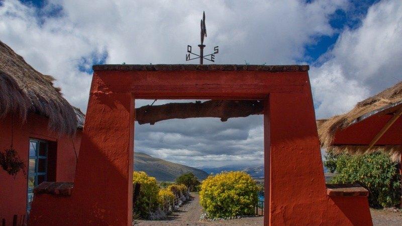 L'hacienda El Porvenir au milieu de quatre volcans au sud de Quito.