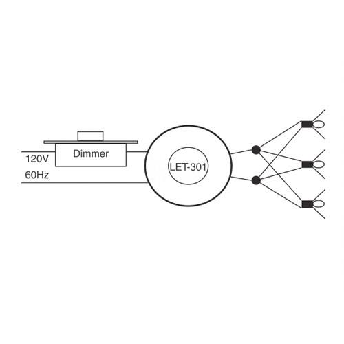 Outdoor lighting LighTech LET-301-12-AC 300 watt 12 volt