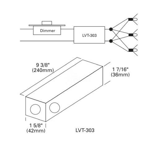 Outdoor lighting LighTech LVT-303-12-AC300 watt 12 volt AC