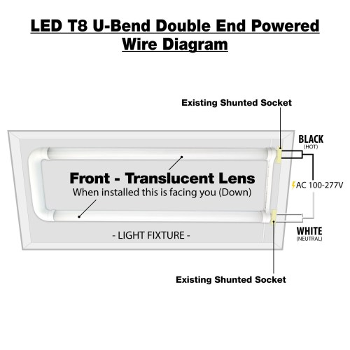 small resolution of  led t8 u bend double end powered wire diagram