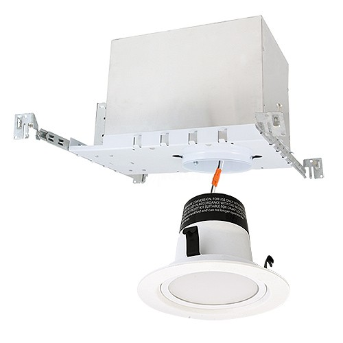 4 led recessed lighting ic at new construction housing 2700k white led retrofit trim kit