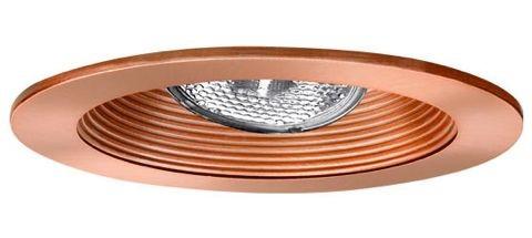 4 recessed lighting adjustable socket bracket copper stepped baffle copper trim