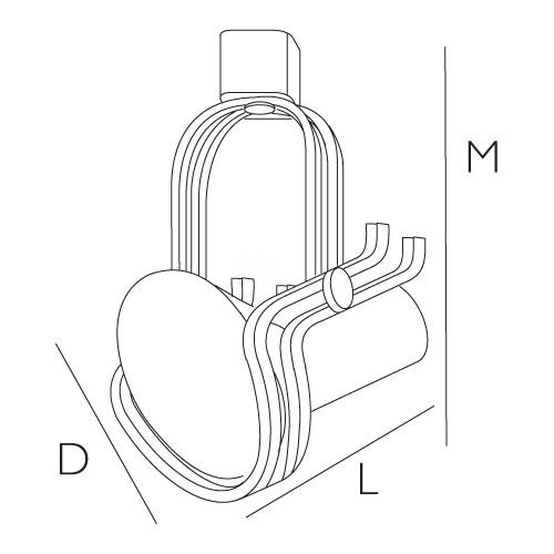 Par 38 adjustable black or white high tech wire frame line