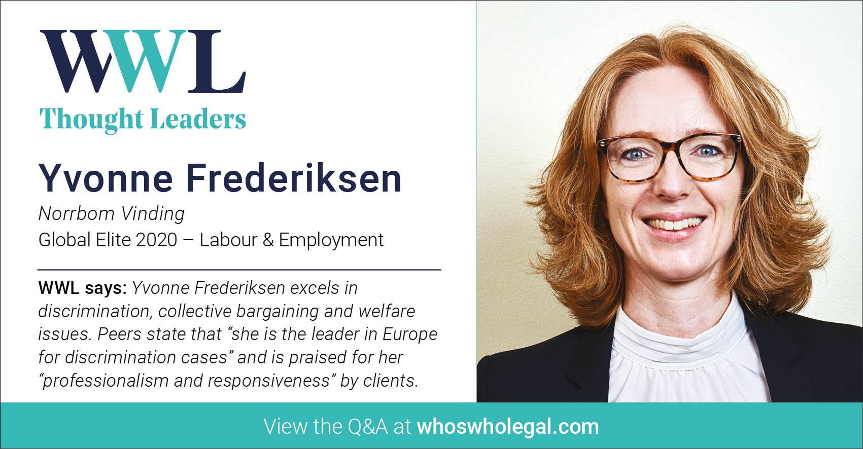 Thought Leaders Global Elite 2020: Yvonne Frederiksen - Lexology