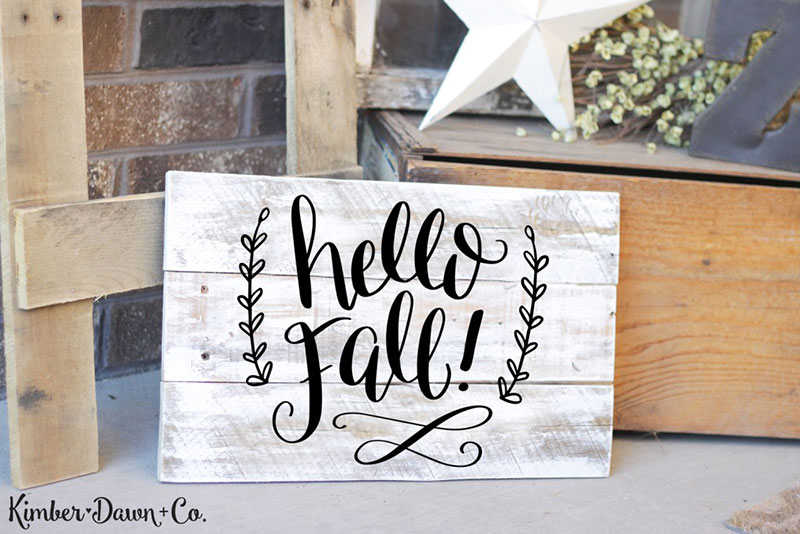 Welcome fall by making crafts using this free SVG file