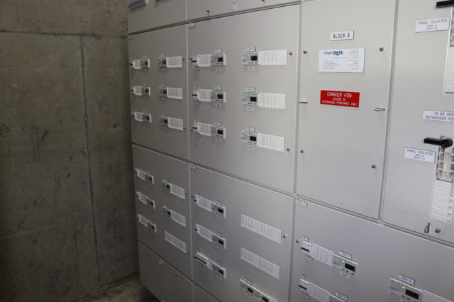 Block E's after the installation of Schneider Electric systems.
