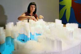 Straws to sculpture: 15,000 plastic straws become art