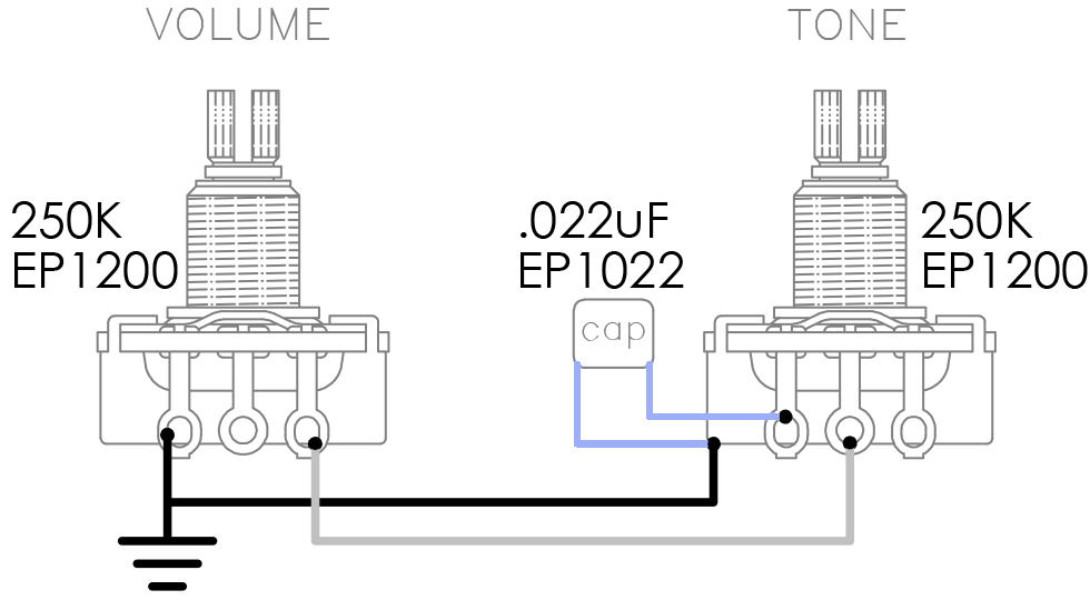 dimarzio hs3 wiring diagram 5 pin stecker hs 3tm 250k volume pot tone 022 uf capacitor