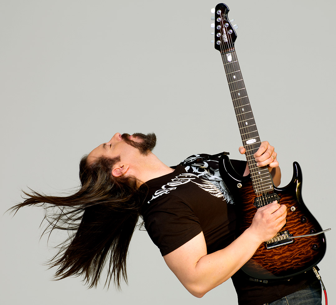 hight resolution of john petrucci for dimarzio