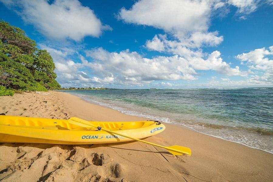 Sandy beach front
