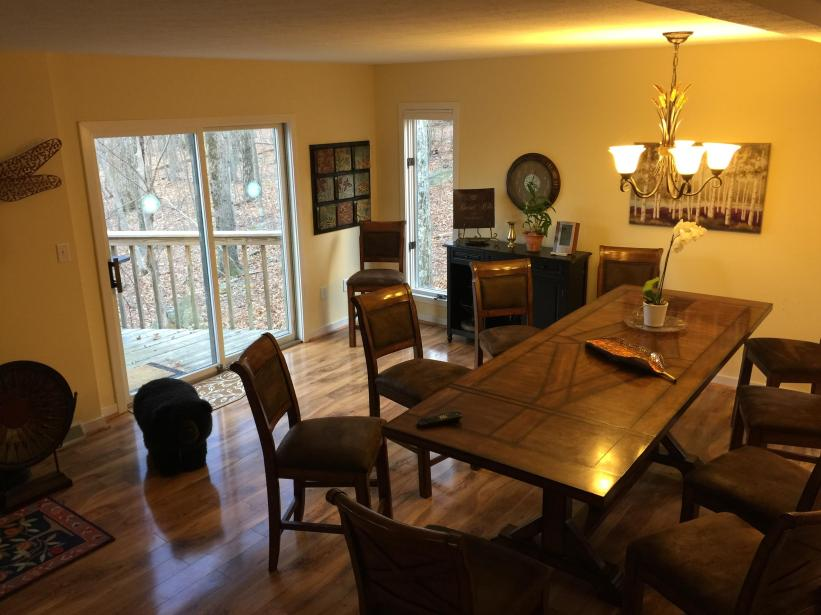 View of main level living room - open - dining