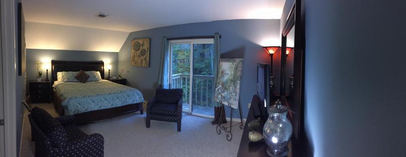 King bedroom - panoramic view