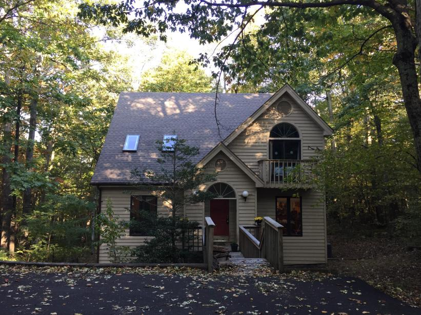 Black Bear Mountain Retreat - 4 Season Vacation Rental Home - 3 Levels - The Front - Level Parking - Level front and back Forest