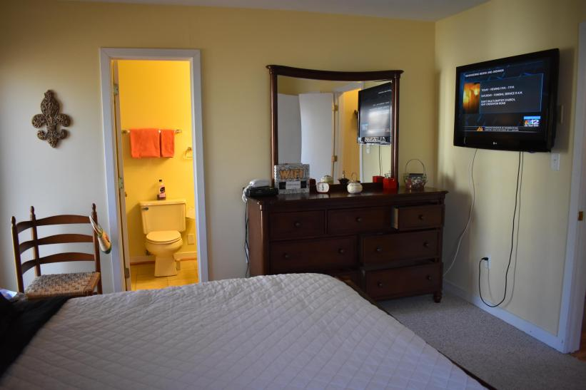 Another View of Main Floor Bedroom with Full Bath Shower and Tub