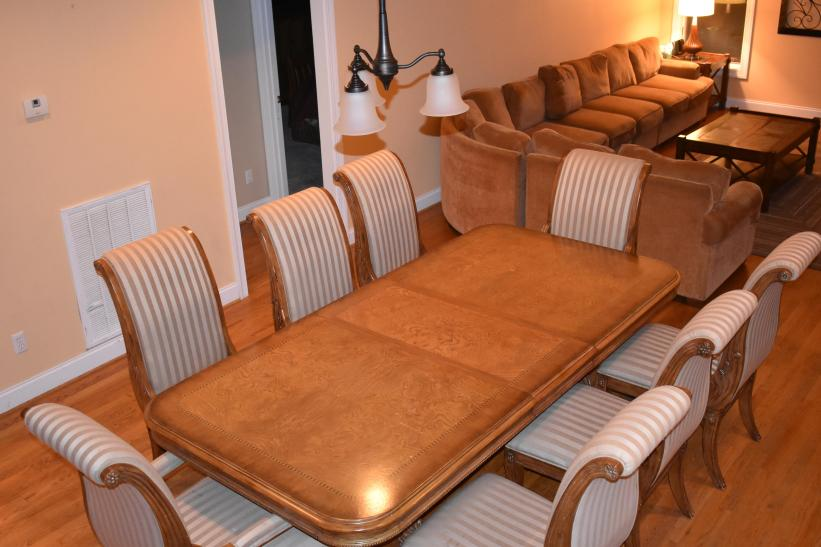 view from dining to sectional