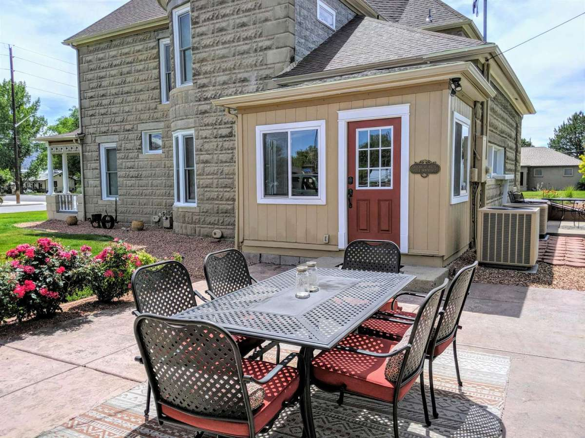 Easy access to the Kitchen right from the Patio