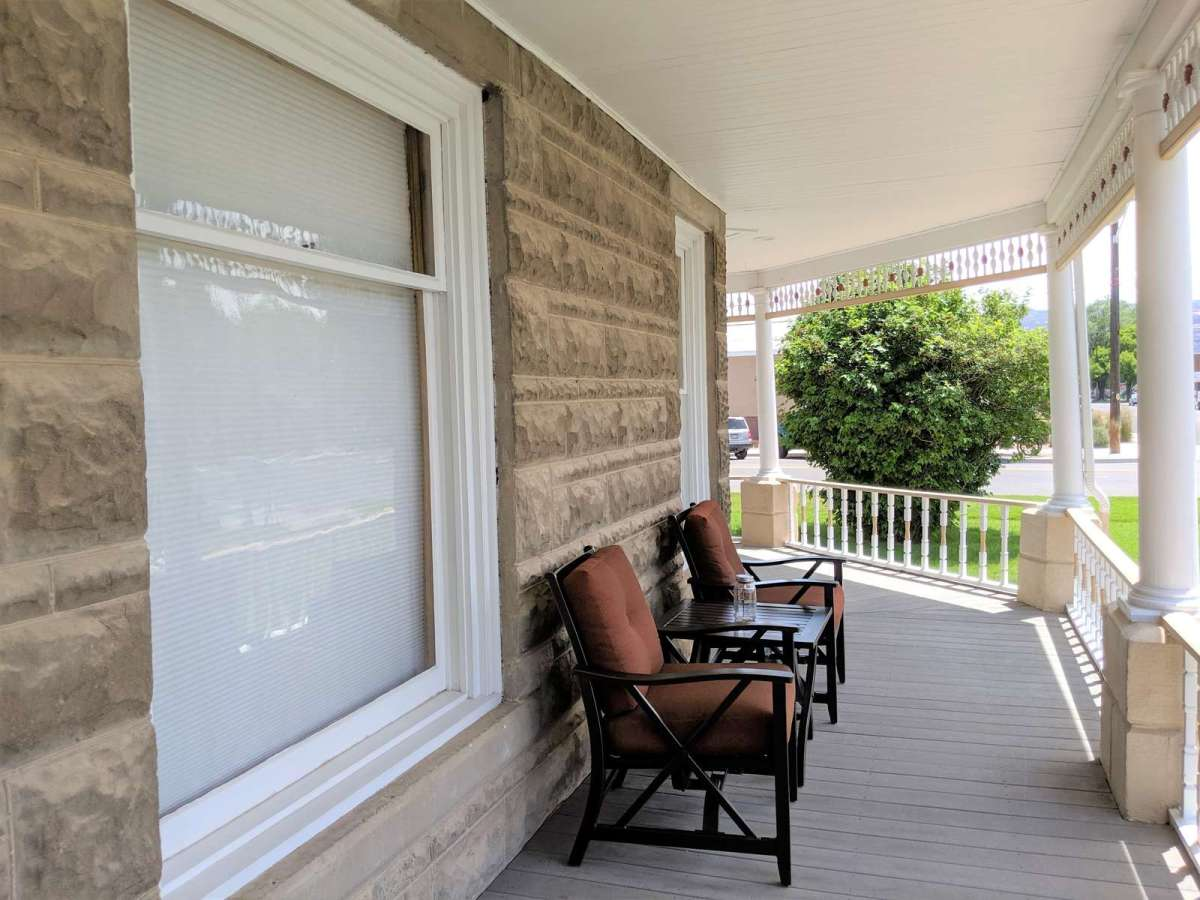 Wrap Around Porch with Seating