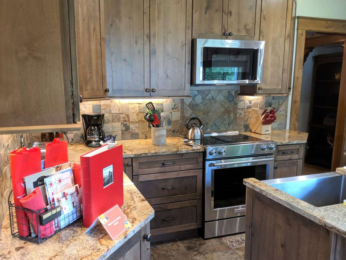 This newly renovated kitchen comes with all stainless steel appliances