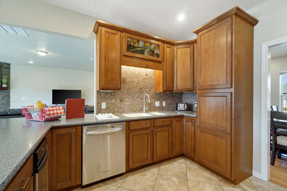 Open concept to entertain while you cook your meals!