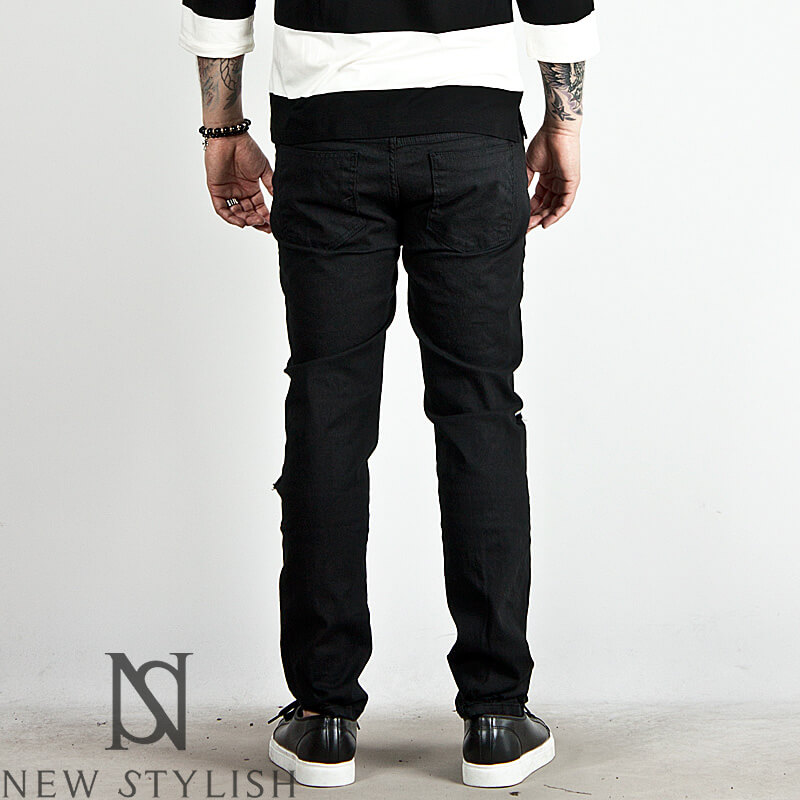 Bottoms  Distressed heavy ripped slim cotton pants  116 for only 4100