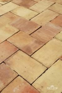 For Sale Reclaimed Old Buff Ceramic Floor Tiles- SalvoWEB UK