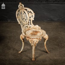Victorian Cast Iron Garden Table Set With Marble