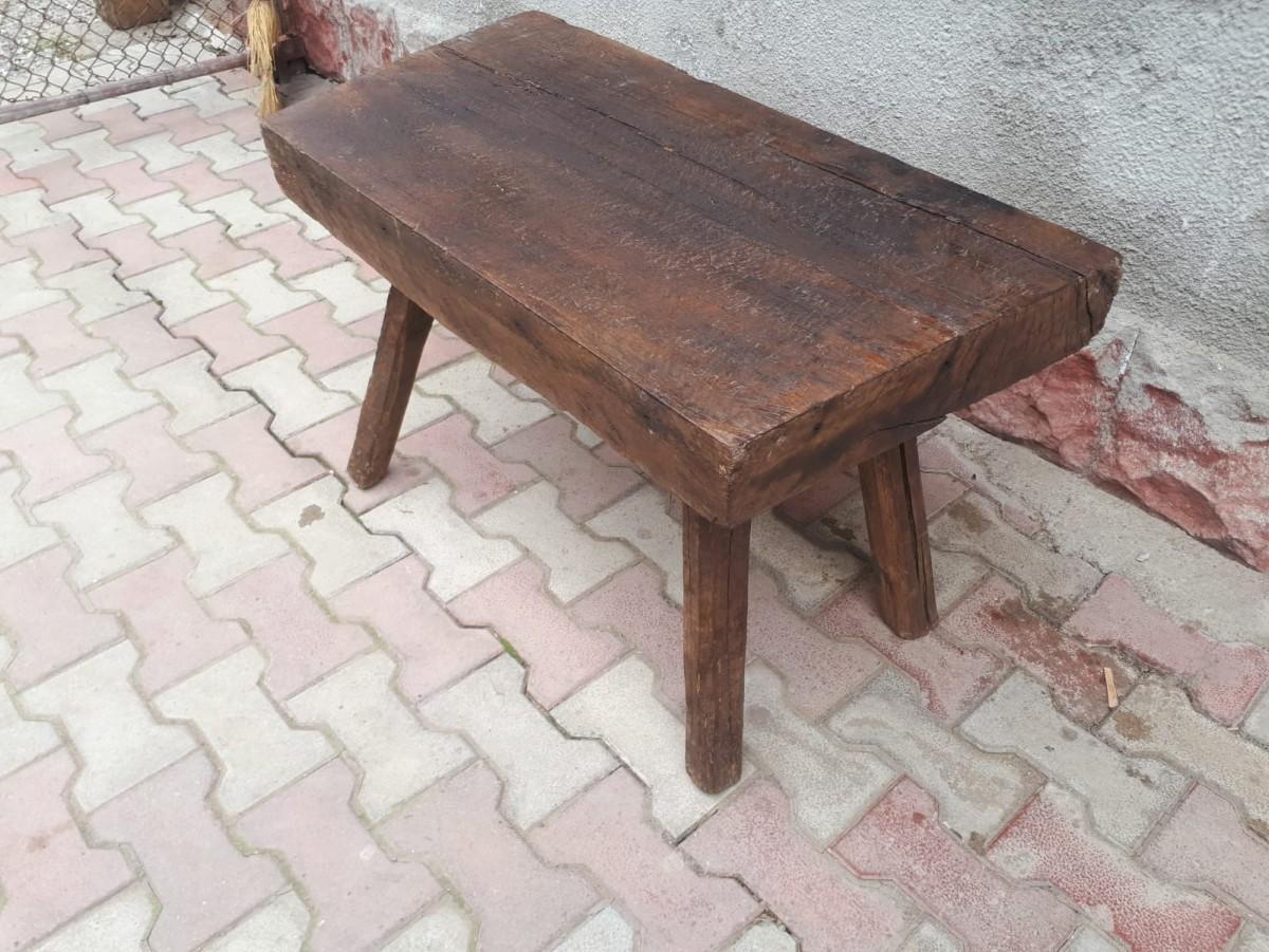 heavy oak 100 year old coffee table