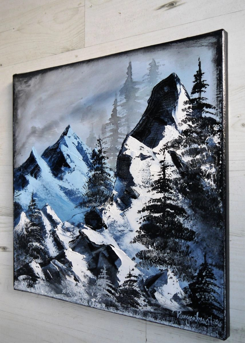 Black And White Mountain Drawings