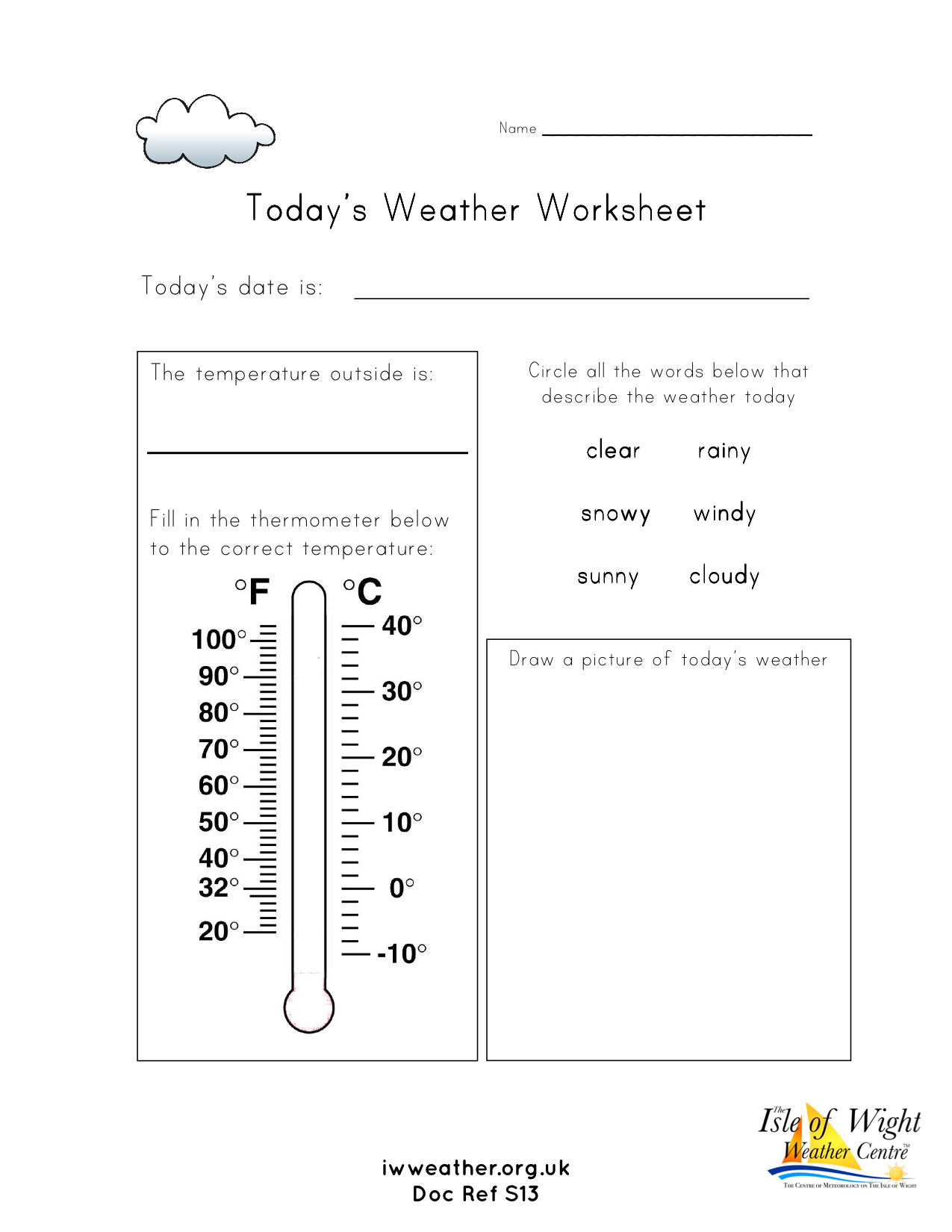 Weather Worksheets For Schools