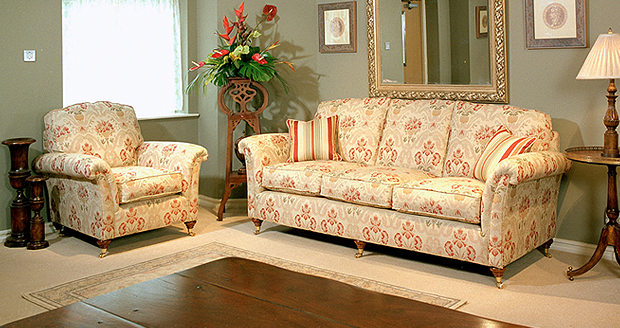 sienna sofa grey nailhead trim mylor & mawes specialist in fine furniture