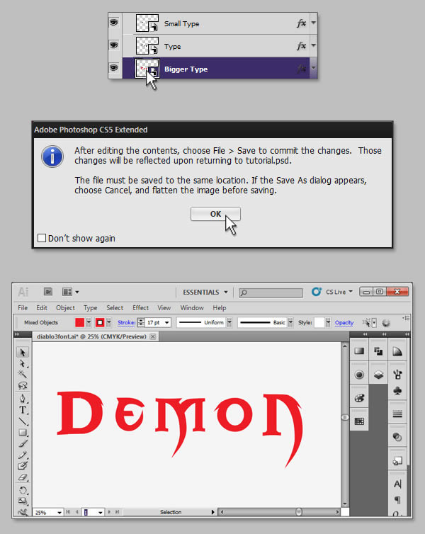 Teks Efek 3 Photoshop | Clasfashion