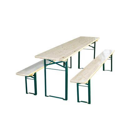 table de jardin bancs en bois 180x50cm