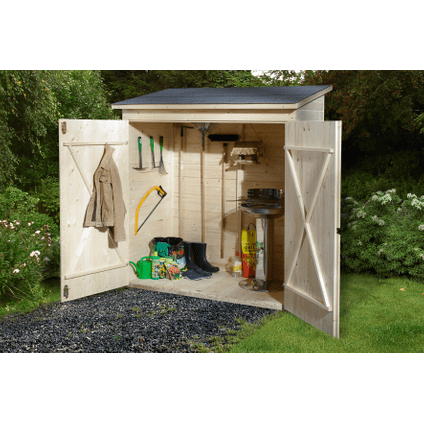 armoire de jardin weka 361gr 1 bois naturel 163x85cm
