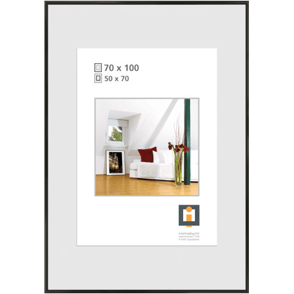 cadre photo intertrading noir 70 x 100 cm