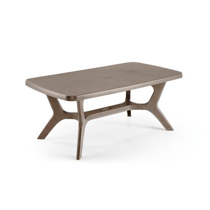 table de jardin allibert baltimore resine synthetique graphite 177x100cm