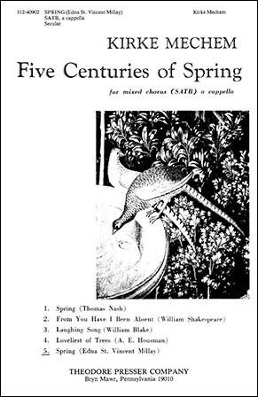 Spring (SATB ) by Kirke Mechem| J.W. Pepper Sheet Music